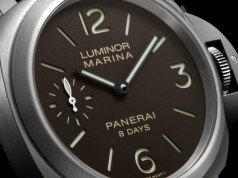 Orologio Panerai Luminor Marina quadrante marrone