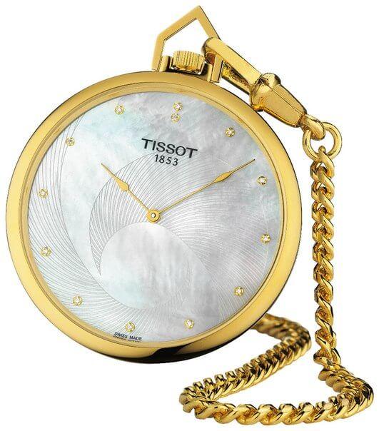 il Tissot Lepine Diamants, offre un quadrante bianco con in rilievo un disegno geometrico e indici in diamanti veri.