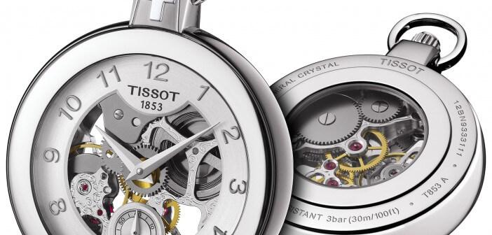 il Tissot Pocket mechanical Skeleton, questo orologio presenta i bordi, gli indici e le lancette di un bel color ramato, al centro l'orologio mostra tutto il suo meccanismo armonioso, la cassa è in acciaio inossidabile, l'orologio nel complesso è armonioso e originale un vero pezzo di design e gusto.