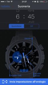 funzione sveglia app Casio+