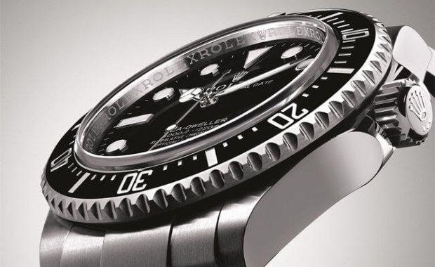 esempio di orologio con ghiera subacquea