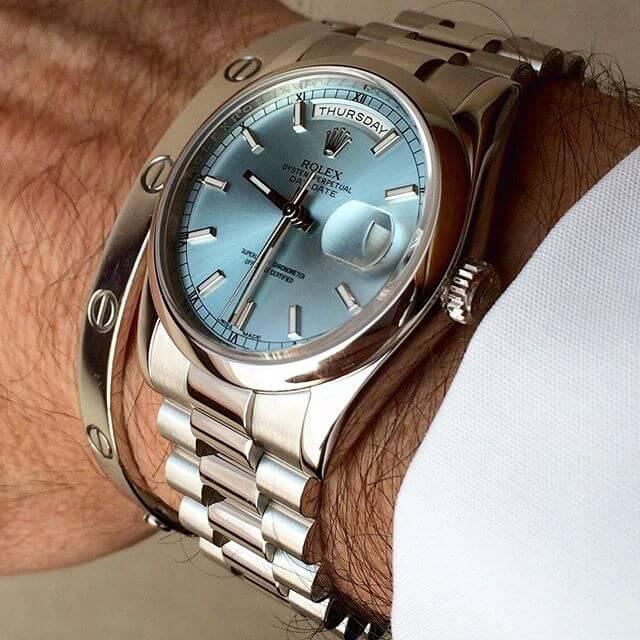 Rolex Day Date 36 Platino ref 118206