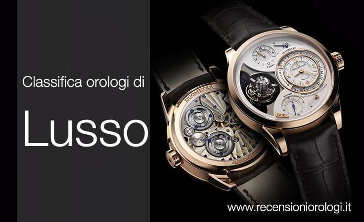 Orologi di lusso: scopri la classifica dei 10 migliori orologi di classe