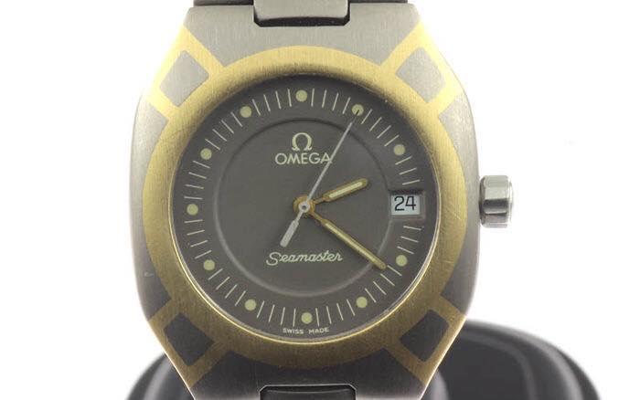 orologio da uomo Omega Seamaster Titaniumgold