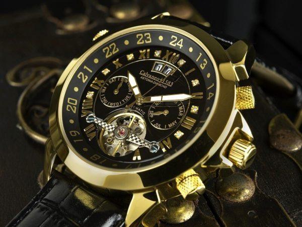 Orologio Calvaneo 1583 Automatico Diamond Gold