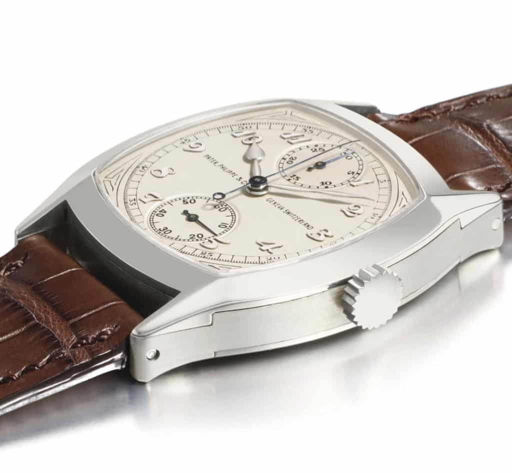 orologio oro bianco Patek Philippe Single Button Chronograph