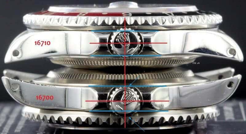 differenza tra Rolex 16700 e Rolex 16710