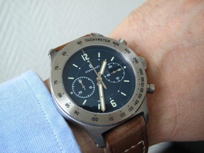orologio Steinhart Marine Officer Blau neu