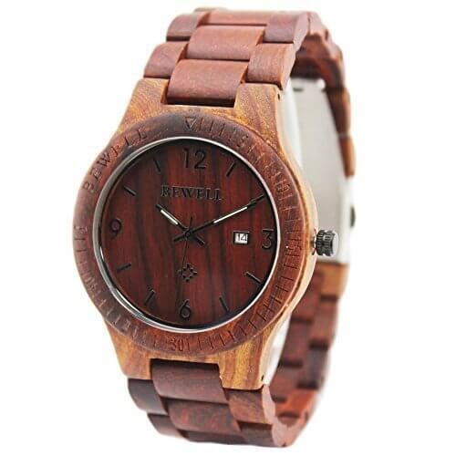 Orologio da polso in legno Bewell AZ0036