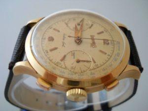 orologio anni 50 Eberhard Extra-Fort in oro 18 carati