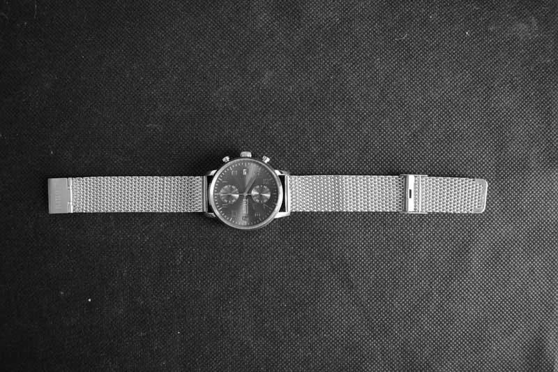Lunghezza del cinturino di 20 cm regolabile RM913 Milanese Chrono Grey