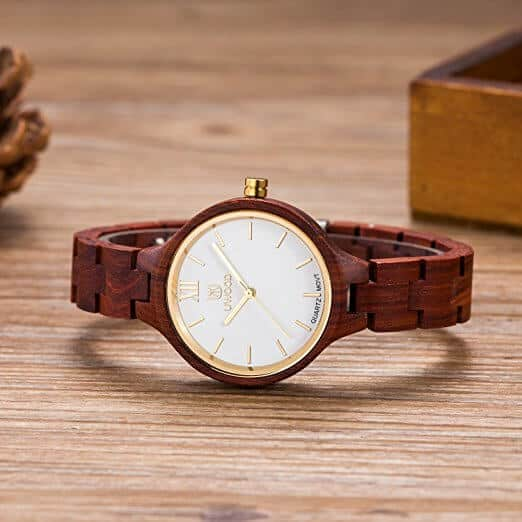 orologio da donna in legno UWOOD UW1003Red