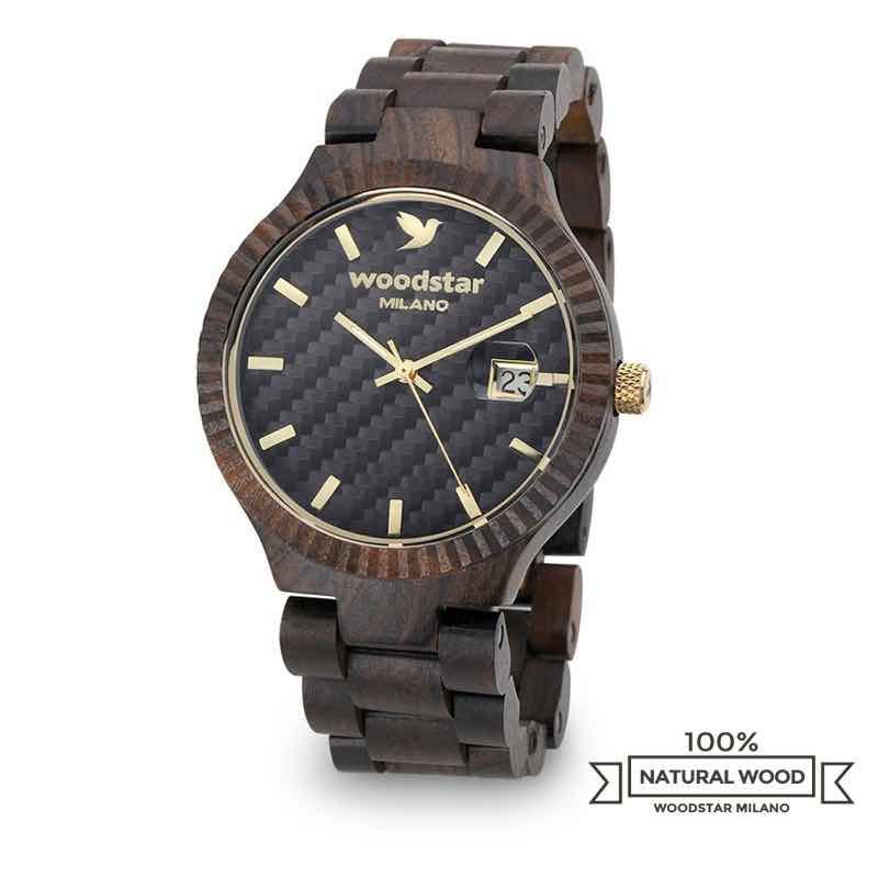 orologio in legno Woodstar Milano modello Juma