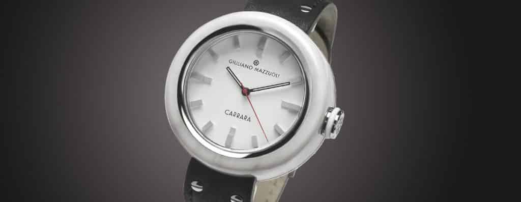 orologio Giuliano Mazzuoli con cassa realzzata con il marmo
