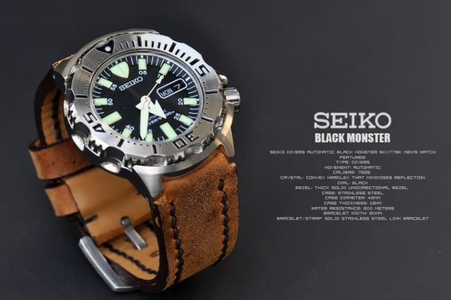Seiko Monster black