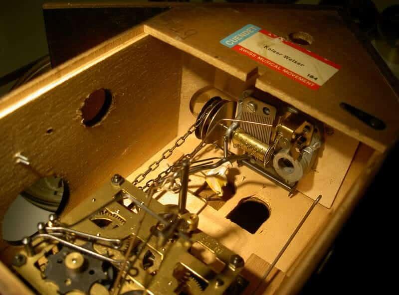 meccanismo dell'orologio a cucù