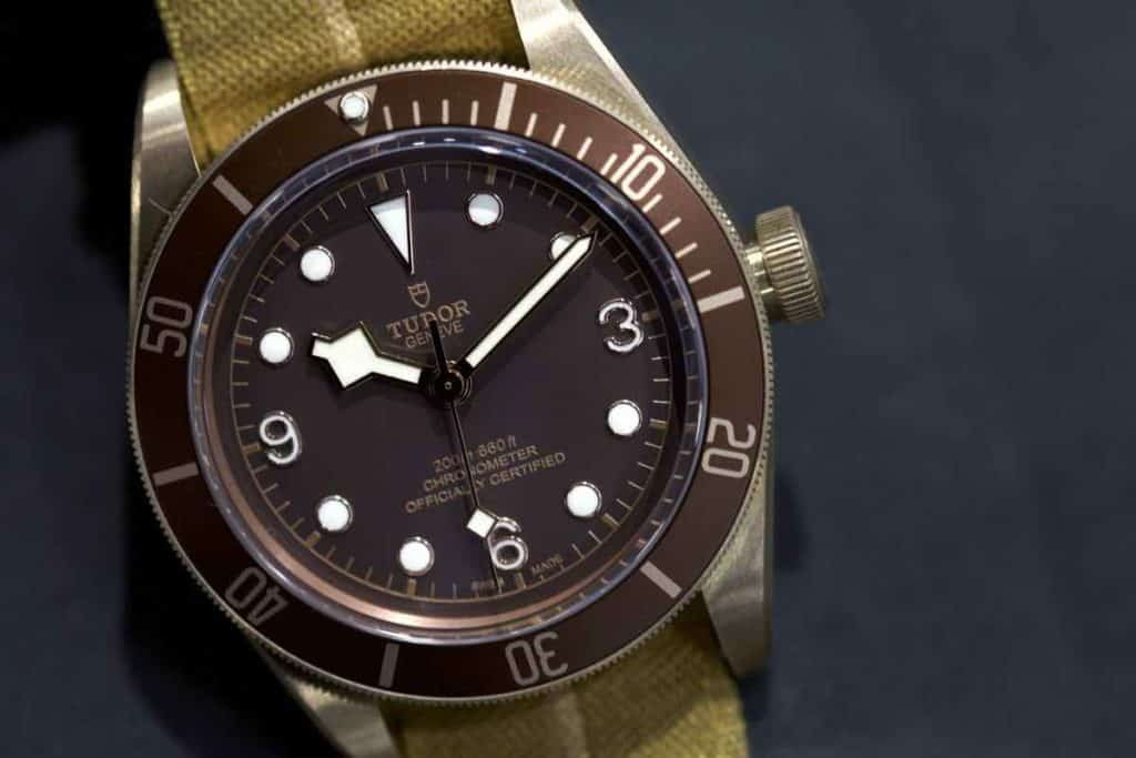 Tudor Black Bay Bronze marrone.