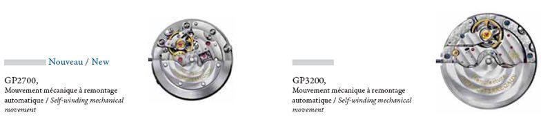 Movimenti GP2700 e GP3200