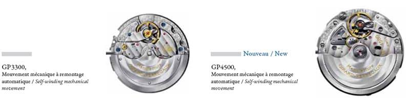 Movimenti GP3300 e GP4500