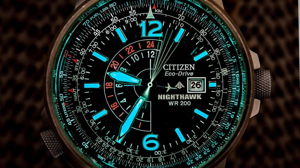 Orologio Citizen nighthawk illuminato
