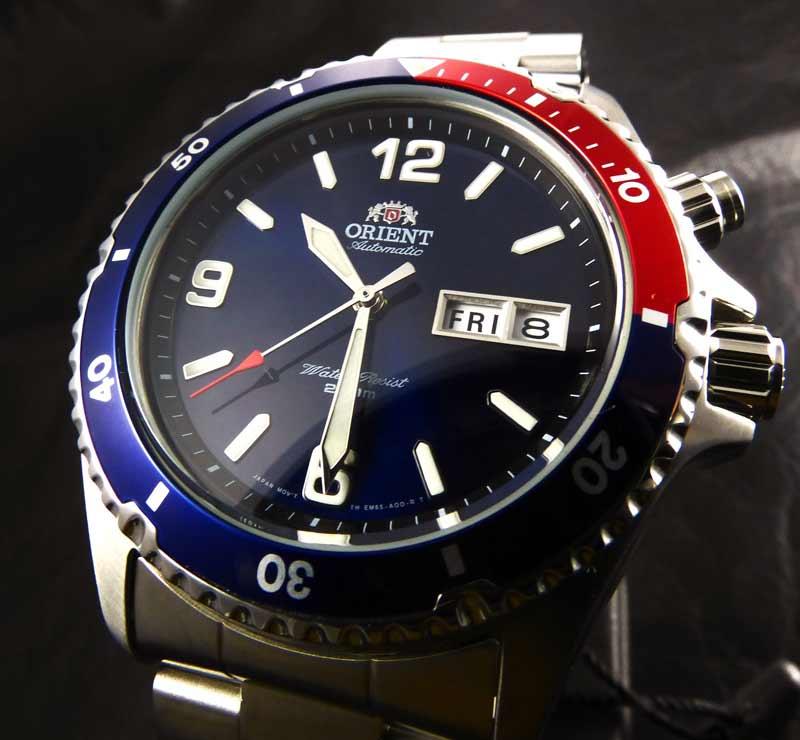 orologio con ghiera pepsi Orient Mako fem65006dv
