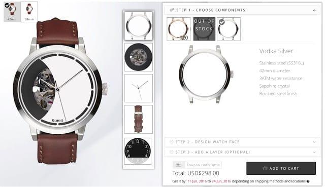 realizzazione orologio sul sito web eoniq