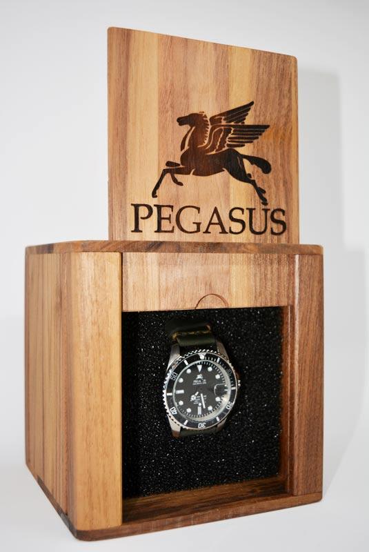 scatola in legno Pegasus Watches Legionary