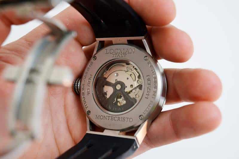 orologio locman montecristo automatico Ref 511 fondello chiuso con viti