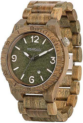 orologio in legno modello militare Wewood Alpha WW08004
