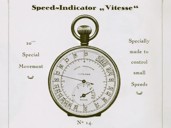 """La versione inglese (miglia) del Breitling """"Vitesse"""" nel catalogo 1928 -  c'era anche una versione continentale (chilometri)"""