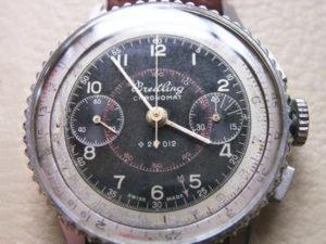 Una prima versione del non luminoso nero della linea Chronomat ref 769, probabilmente del 1942
