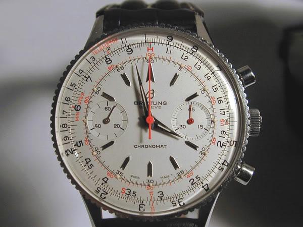 Chronomat ref 808 con quadrante argentato (nota puntini luminosi in posizione esterna)