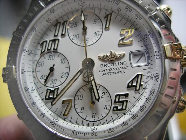 Chronomat Vitesse ref B13050 con indici numerici  in corsivo