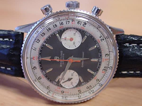 Circa fine degli anni '60, Chronomat ref 808 con quadrante di colore nero  (lancetta dei secondi non originale)