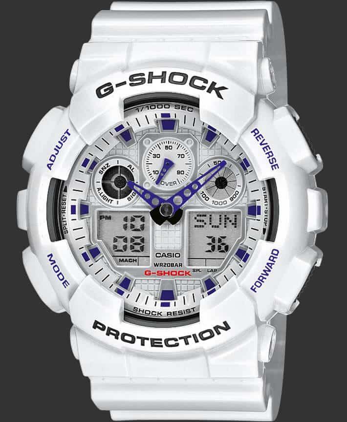 G-SHOCK Bianco GA-100A-7AER