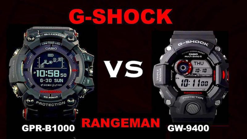 confronto tra gli orologi Casio Rangeman GPR-B1000 vs Rangeman GW-9400
