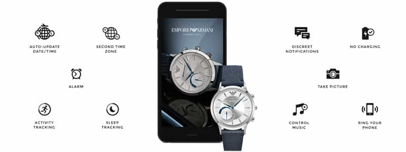 Emporio Armani Connected con lo smatphone