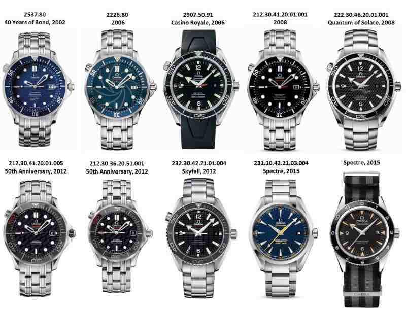 Omega 007 collection
