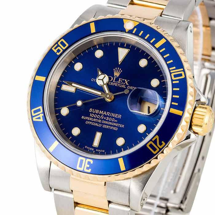 Rolex 16613 Submariner blu