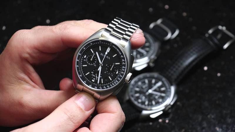 Special Edition Bulova Moon Chronograph Watch 96B258