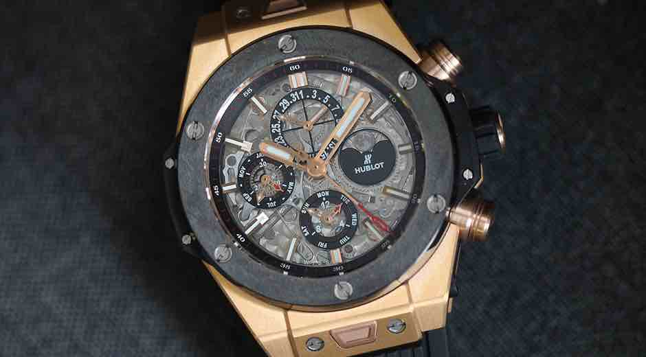 Hublot Big Bang Unico Perpetual Calendar King Gold Ceramic con cassa da 45 mm