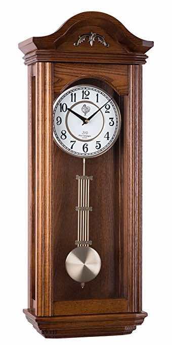 orologio a pendolo in legno su amazon