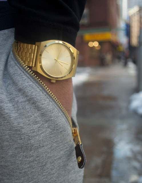 orologio Nixon Time Teller Gold
