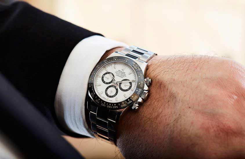 Rolex daytona 116500ln con quadrante bianco