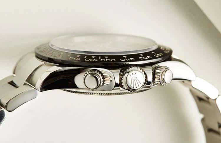 cassa, corona e fondello del Rolex daytona 116500ln