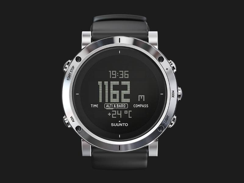 Suunto Core Brushed Steel Outdoor Watch SS0203390
