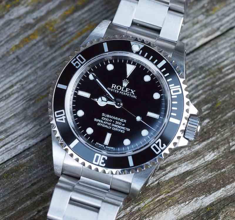 Rolex 14060 con quadrante nero