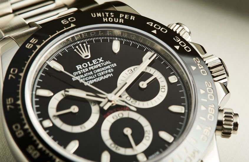 Rolex ref 116500LN con quadrante nero
