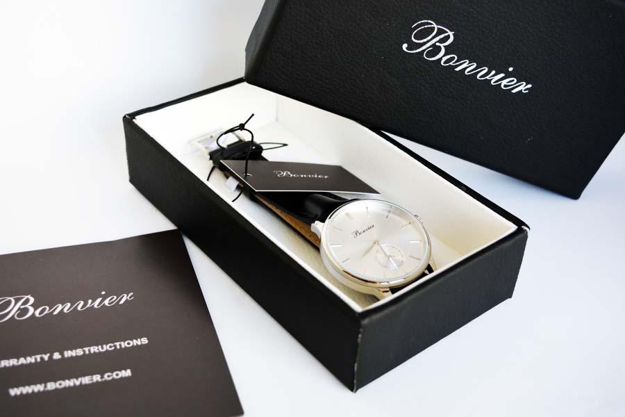 scatola con garanzia Bonvier Navona Silver 41 mm
