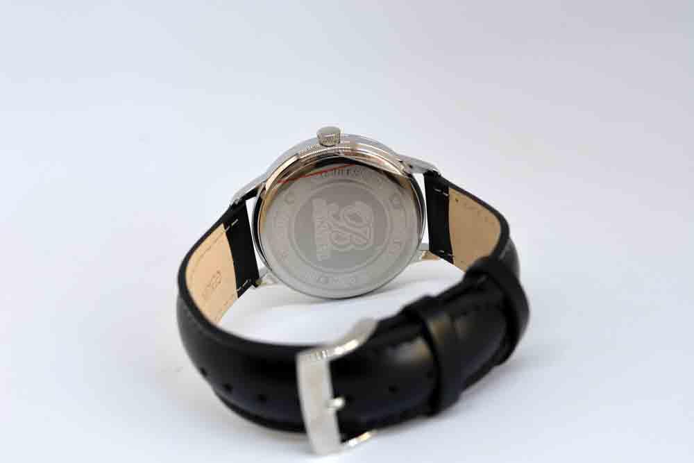 fondello dell'orologio Bonvier Navona Silver 41 mm